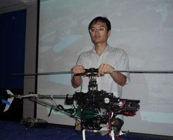 港科大硕士发明模型直升机深入震灾区拍照(图)