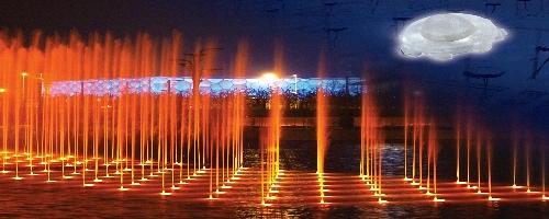 """歐司朗光電半導體LED 點亮奧林匹克公園金色""""龍形水系噴泉"""""""