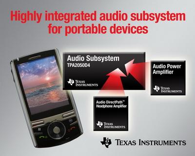 TI针对便携式设备推出完整音频子系统