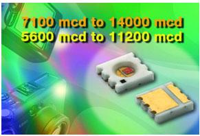 Vishay 推出首款淡黄色及黄色SMD LED系列VLMx82