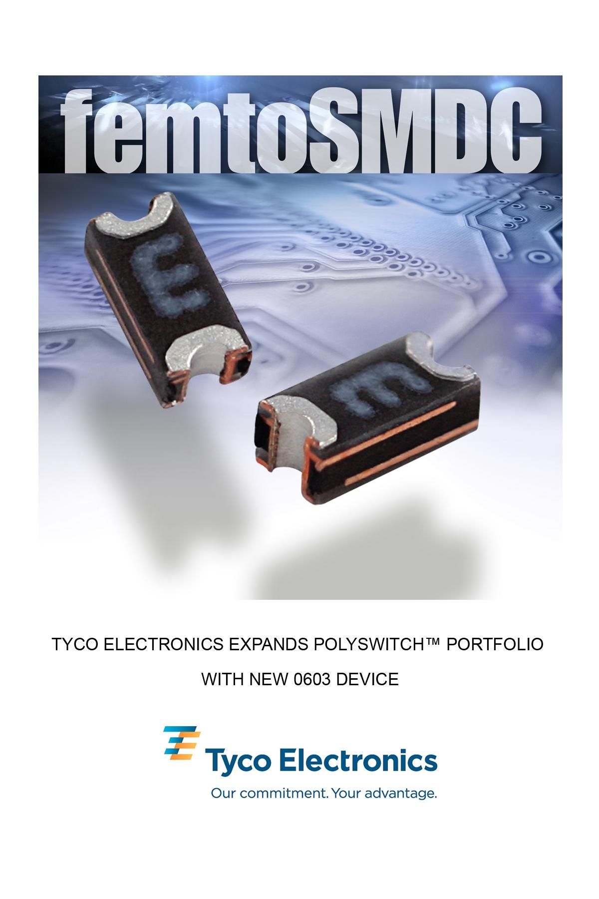 泰科推出新型0603器件 扩展pOLYSWITCH产品系列
