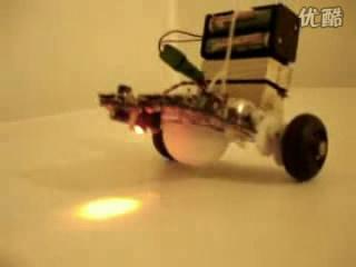 ASURO循迹避障测速智能车平衡功能演示