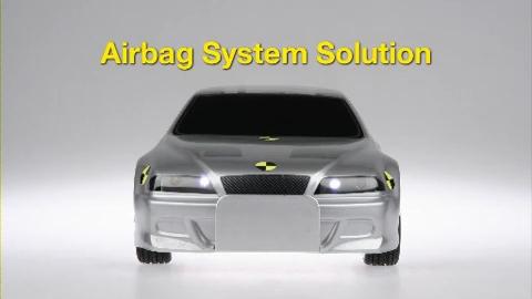 展示现代安全技术的气囊系统模型车