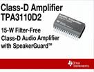 15W 無濾波器 D 類音頻放大器 TPA3110D2
