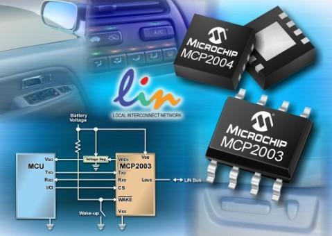 Microchip推出MCP2003/4独立式LIN收发器