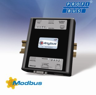 连接Profibus和Modbus-TCP网络的Anybus X-网关