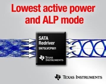 TI推出业界最低功耗 6 Gbps SATA转接驱动器/均衡器