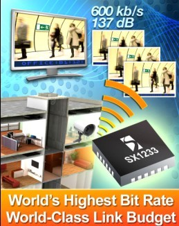 升特公司推出可编程ISM频段收发器