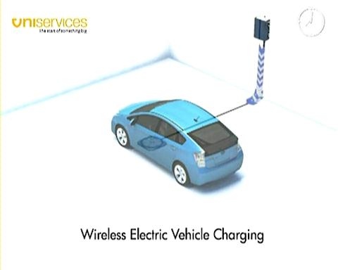 电动汽车无线充电演示视频