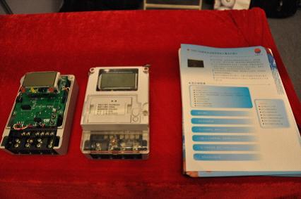 拖拉机电流表接线图-新计量芯片亮相电表行业盛会图片