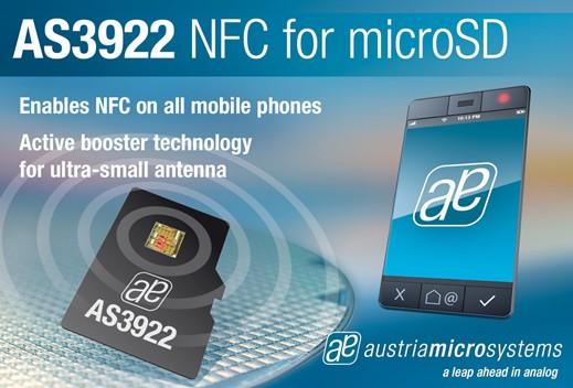 奥地利推出业内首款独立NFC microSD解决方案