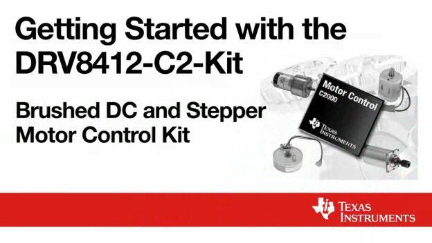 DRV8412-C2-KIT,直流有刷和步进电机控制套件