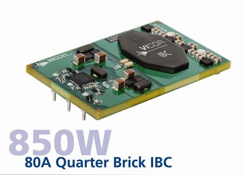 Vicor推出850W 80A ¼ 砖中间总线模块
