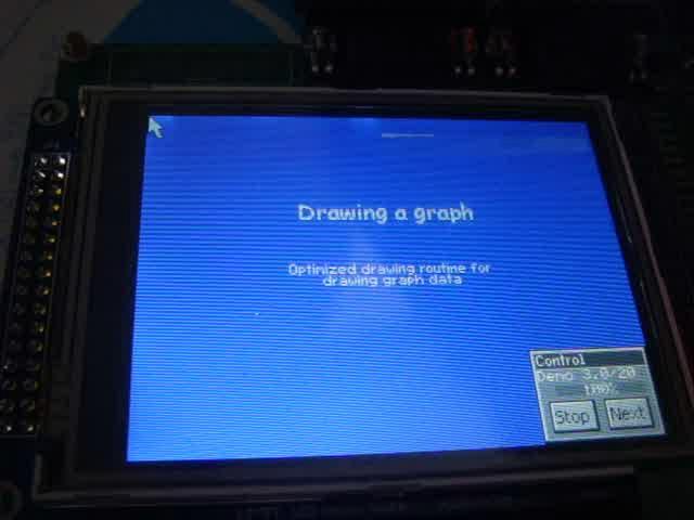 """""""sacq""""的STM32运行uCGUI演示的视频片段1"""