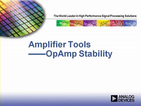 ADI放大器工具-OpAmp Stability