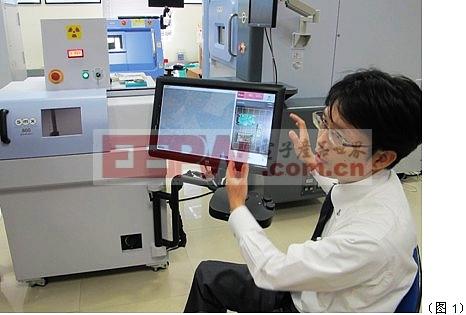 近距离观察岛津微焦点X射线透视检查装置SMX-800