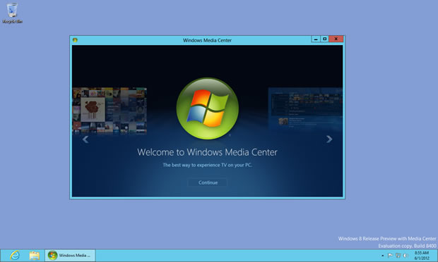 Windows 8 Pro可免费安装Media Center