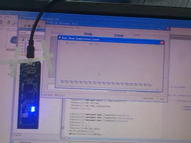 """campozeng""的AD+內部温度传感器+UART(串口)+上位机软件做的温度监测视频"
