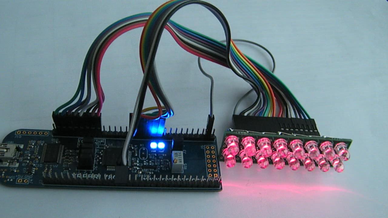 """""""soothmusic""""的RL78/G13开发板实现16个LED流水灯视频"""