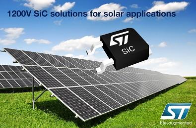 意法半导体推出了针对碳化硅太阳能的解决方案