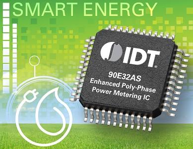 IDT推出首款三相计量芯片用于提高精度