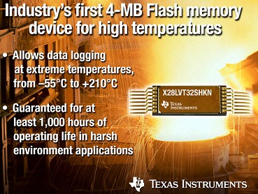 德州仪器推出首款应用于严苛环境的4MB闪存器