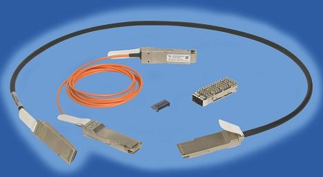 FCI提供无源铜缆和有源光缆组件