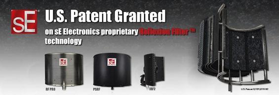 sE Electronics RF防反射隔声罩获美国专利