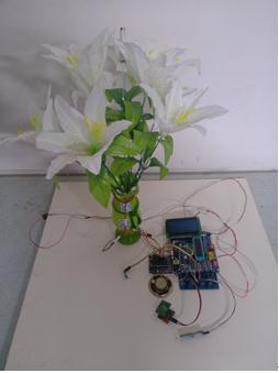 智能塑料花卉