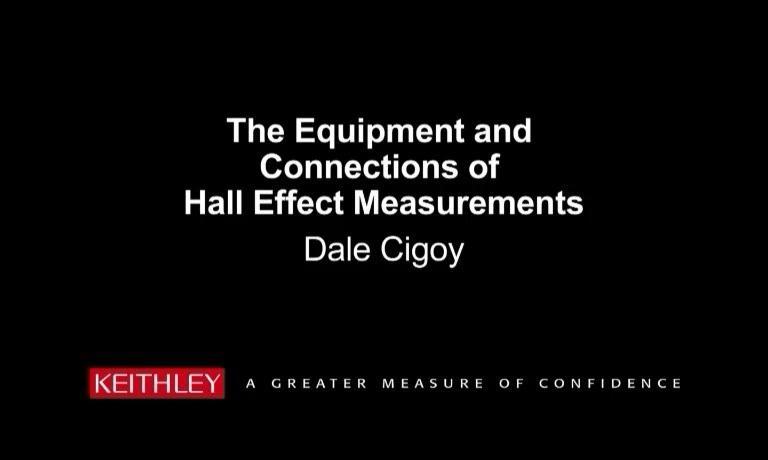 霍尔效应设备及连接方式