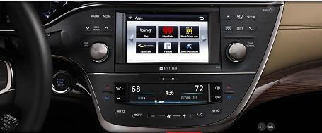 丰田2013版Avalon汽车电容式触摸屏、按键和滑条采用赛普拉斯控制器