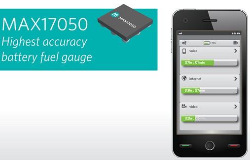 Maxim推出精度最高的电池电量计