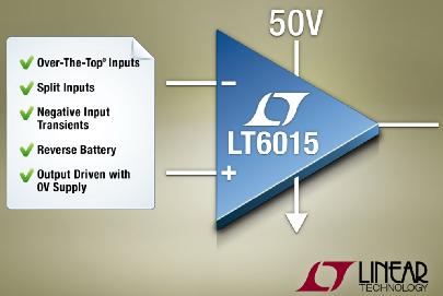 凌力尔特推出单路Over-the-Top运算放大器LT6015