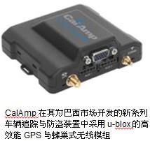 CalAmp与u-blox携手进军巴西车载资通讯系统市场