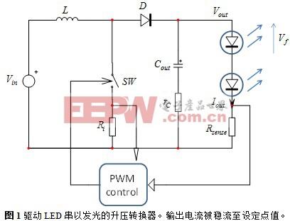 驱动LED串的DCM升压转换器简化分析
