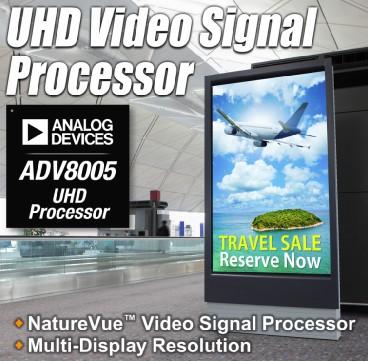 ADI推出NatureVue™超高清视频信号处理器