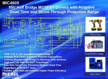 麦瑞推出新型85V半桥MOSFET驱动器