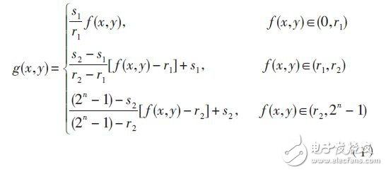分段线性变换的数学表达