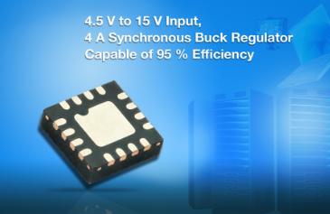 Vishay推出开关频率高达1.5MHz 的同步降压稳压器
