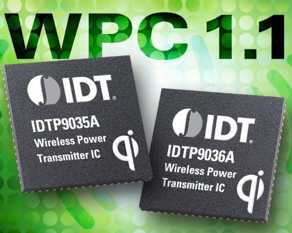 无线充电技术发展已趋成熟,图为IDT的应用解决方案。IDT