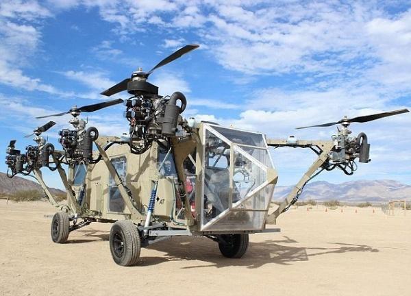 美国研制无人飞行卡车:8旋翼叶片产生升力