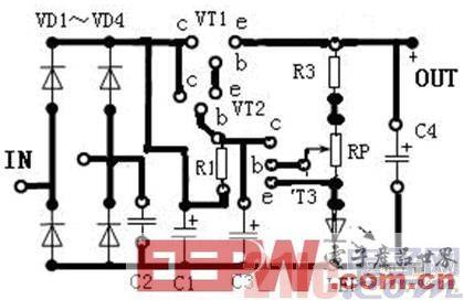 解析一款可调直流稳压电源的电路原理图及工作原理图片