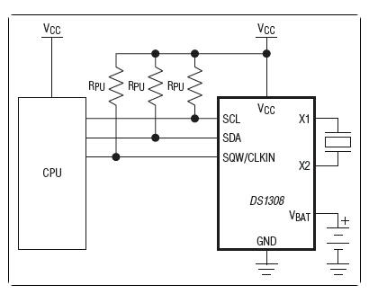 低功耗I²C RTC,带有56字节NV RAM