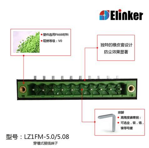 联捷成功研发新型防尘穿墙式接线端子排