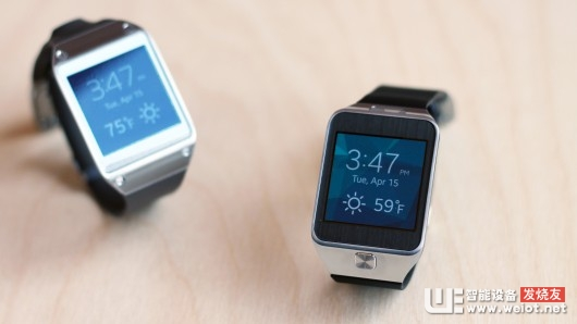 The Galaxy Gear (left) next to the Gear 2