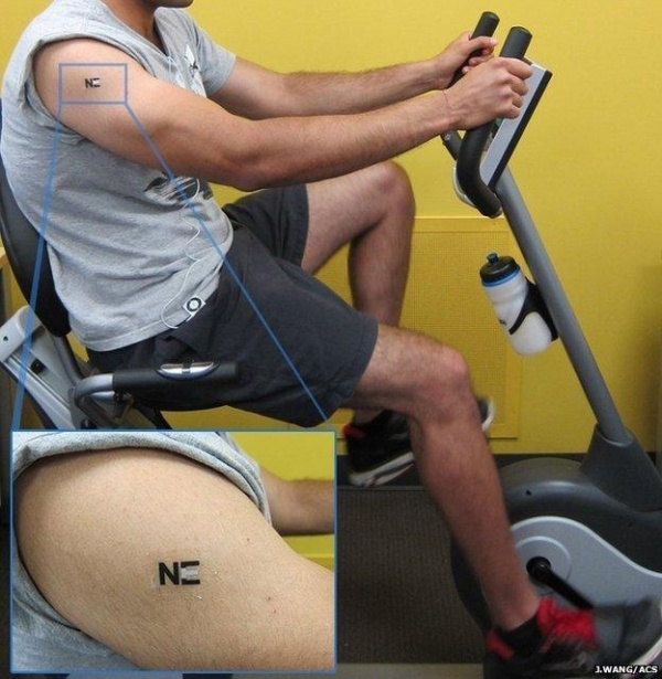 人体汗液再利用 电子纹身让你运动充电两不误