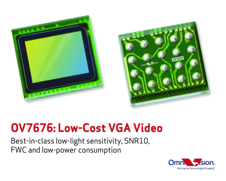 OMNIVISION 的高性能、低成本图像传感器为众多消费应用带来一流的 VGA 视频