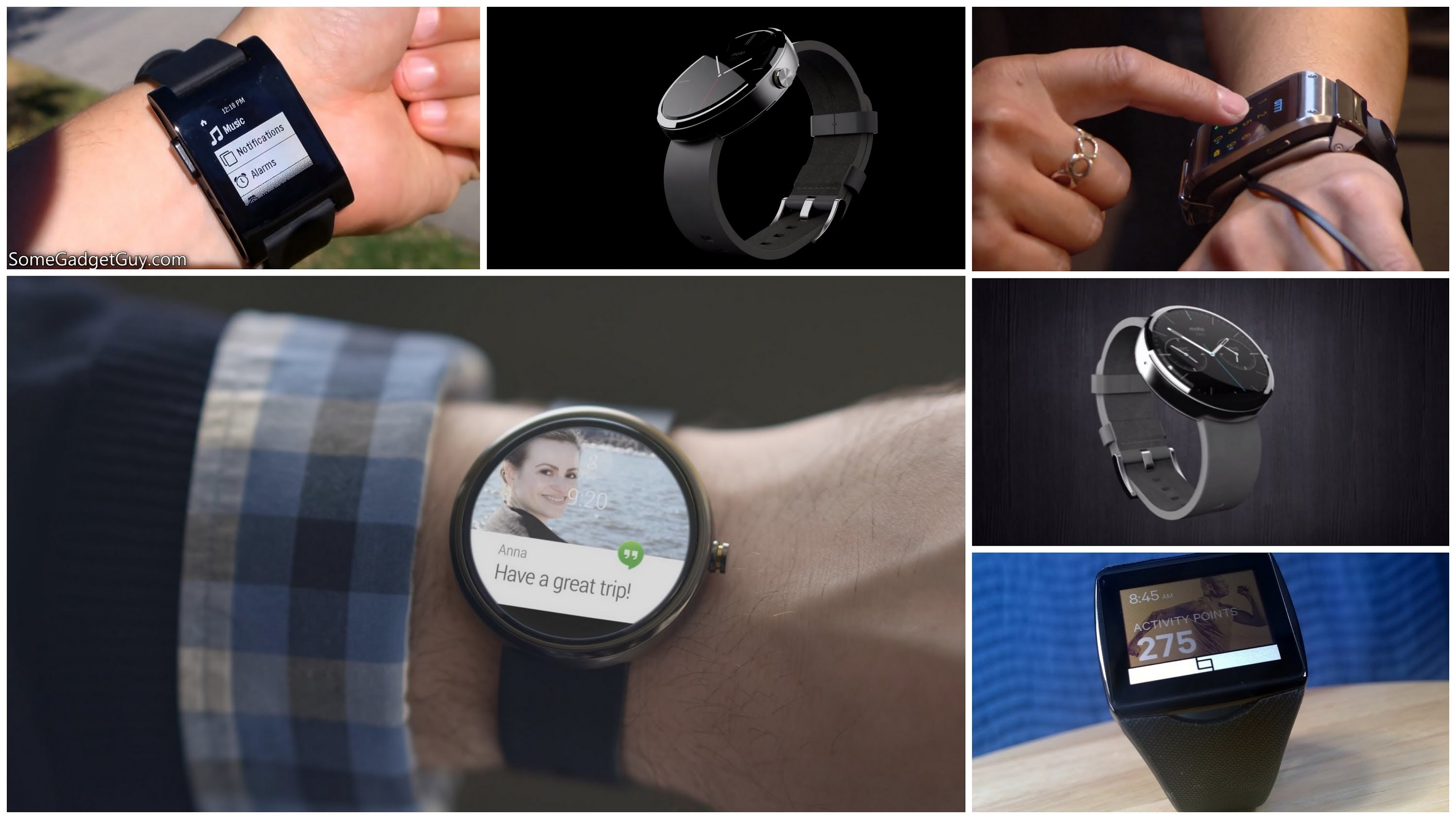 Moto360、G watch、Gear Live对比评测