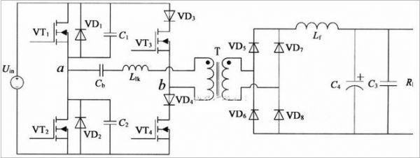 图1 1.2kw软开关直流电源电路结构简图