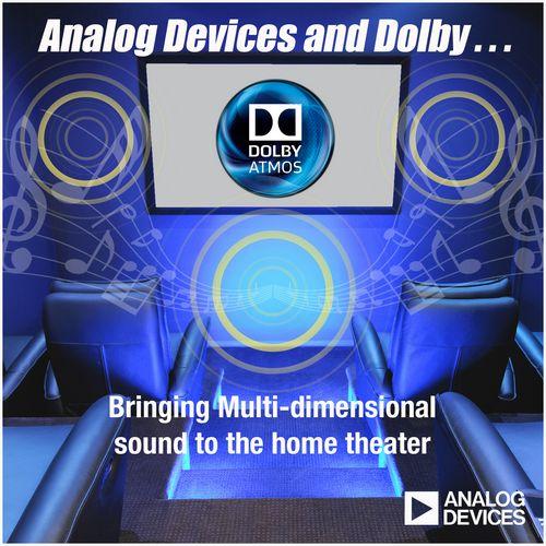 ADI发布首款面向杜比全景声内容解码应用的SHARC 214xx处理器